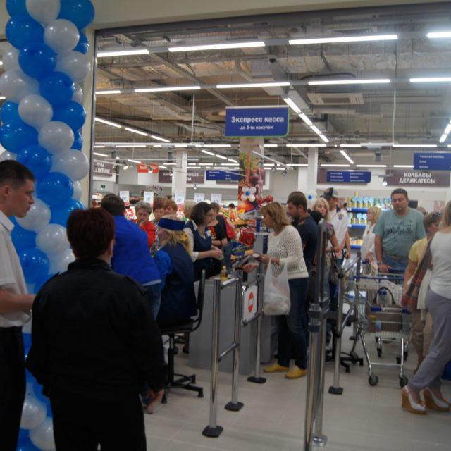 Открытие магазина Перекресток в ТЦ РИО (Тамбов)